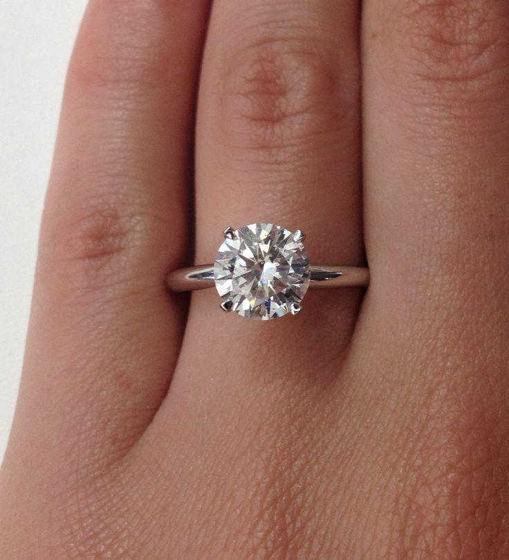 Big Diamond Wedding Bands Diamond Solitaire Engagement Ring