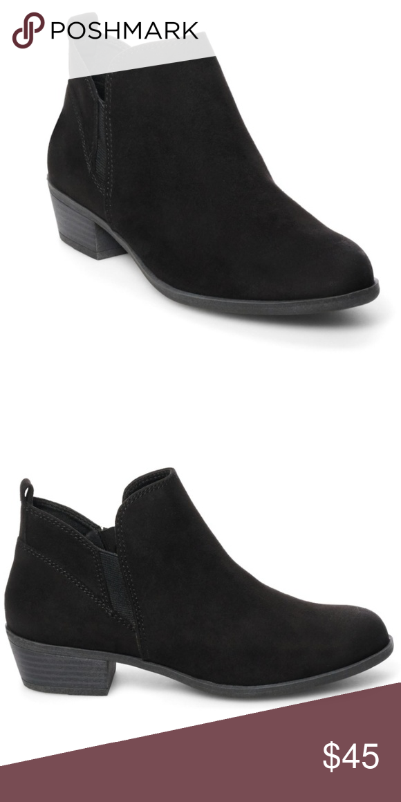 f1ba3467ac5 Final Price😍 Black Ankle Booties **Tried on inside once, never worn out of  house** SO Pear Womens Faux Suade Ankle Boots Has a slight brushed