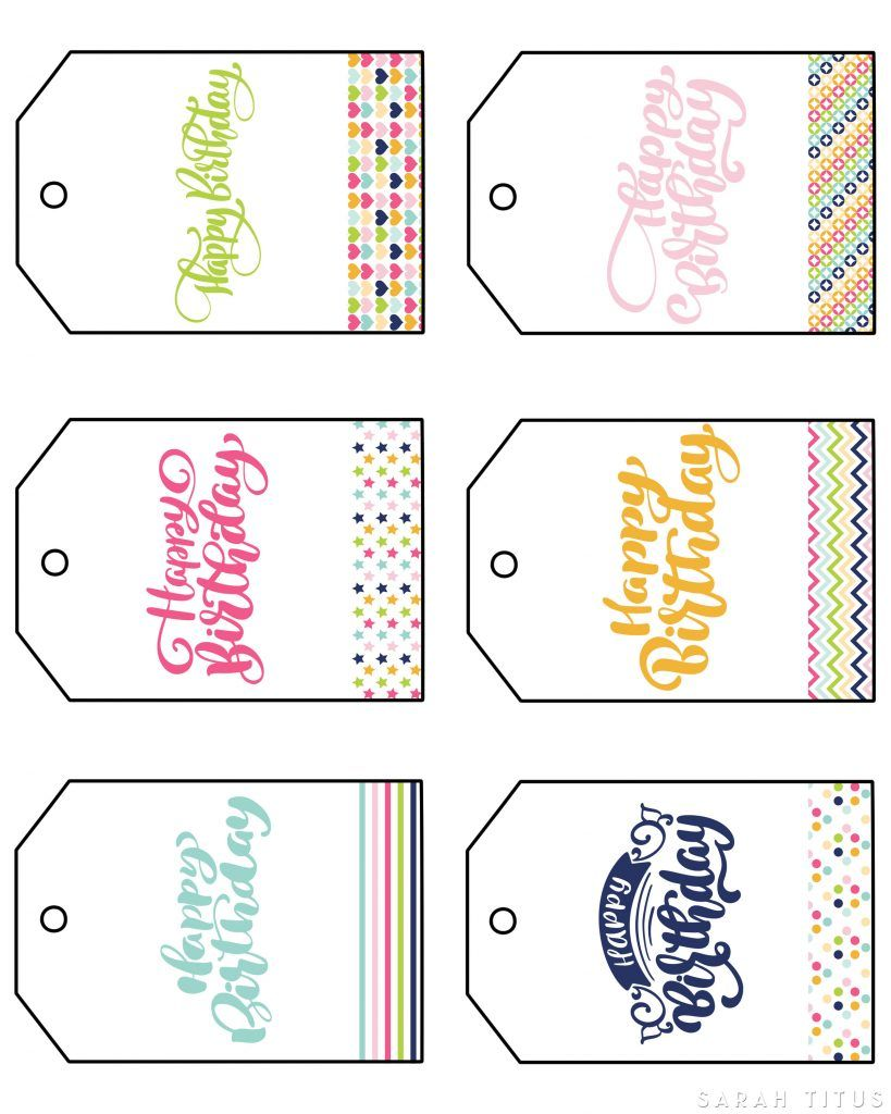 Free Printable Happy Birthday Gift Tags is part of Happy birthday gifts, Free birthday gift tags, Happy birthday printable, Birthday gift tags printable, Birthday gift tags, Free printable gift tags - These free printable happy birthday gift tags are different than the basic (read boring) runofthemill gift tags you'll find in the store  These have class, charm, and whimsy to them  Did I mention they're FREE ! freeprintable freeprintables freegifttags birthdaygifttags happybirthday happybday