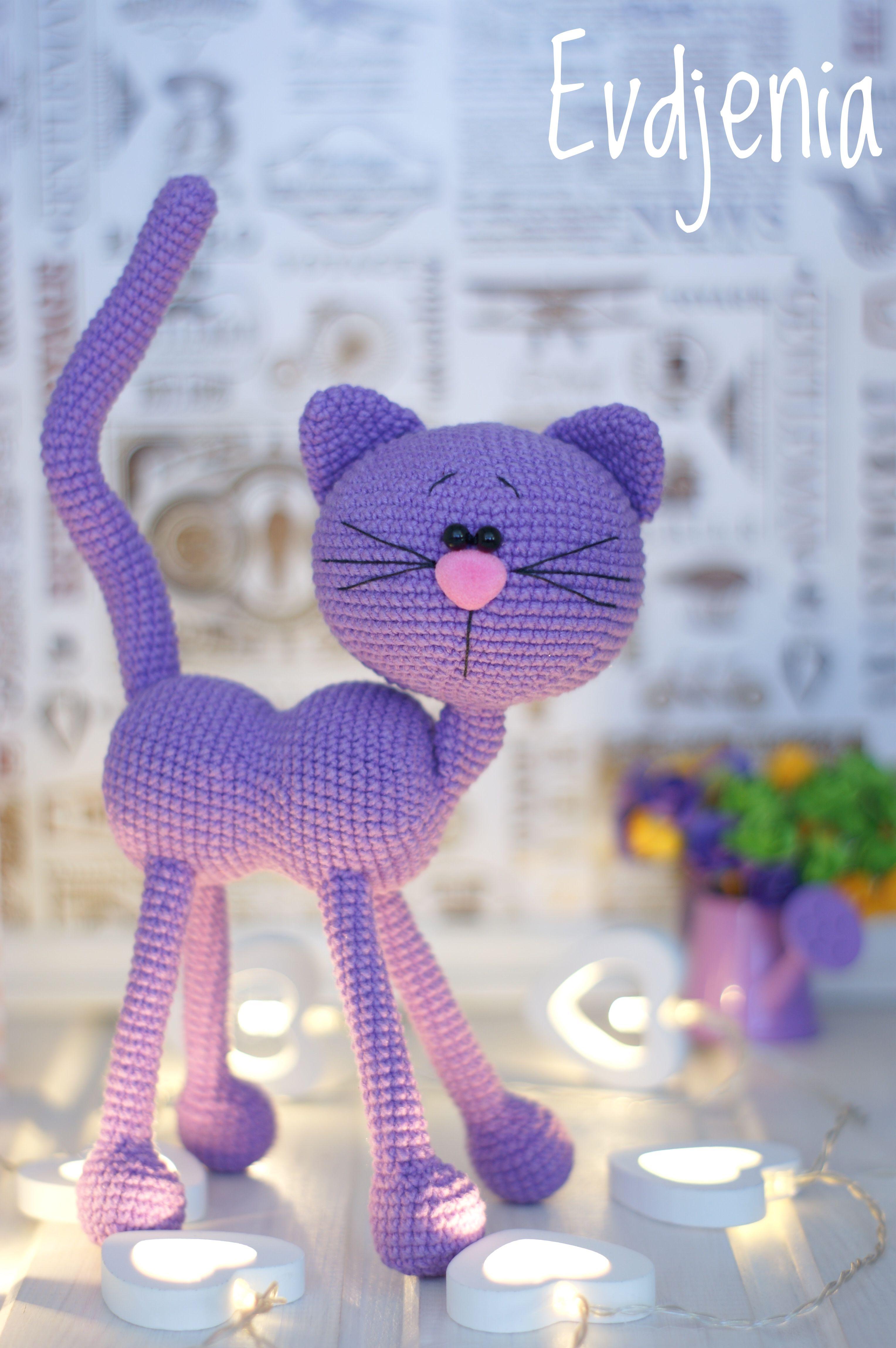 Photo of Crochet Amigurumi Cat, PATTERN ONLY, pdf Stuffed Animal Toy Pattern