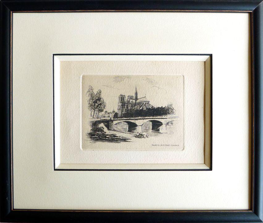 gravure du pont neuf avec biseau anglais et filet. Black Bedroom Furniture Sets. Home Design Ideas