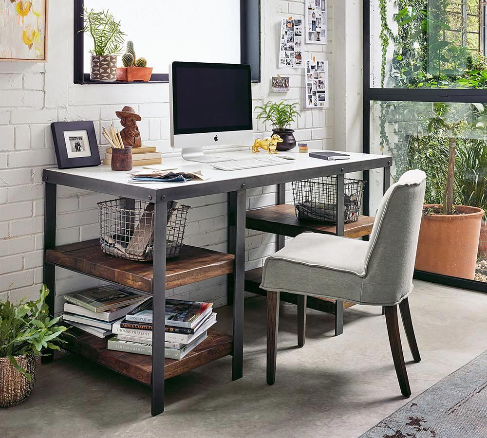 Upland Desk My Home In 2019 Marble Office