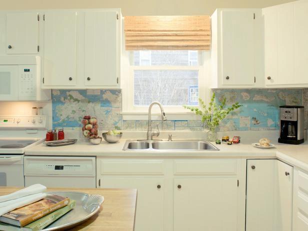 budget backsplash project global style maps kitchen and dining room diy kitchen kitchen. Black Bedroom Furniture Sets. Home Design Ideas