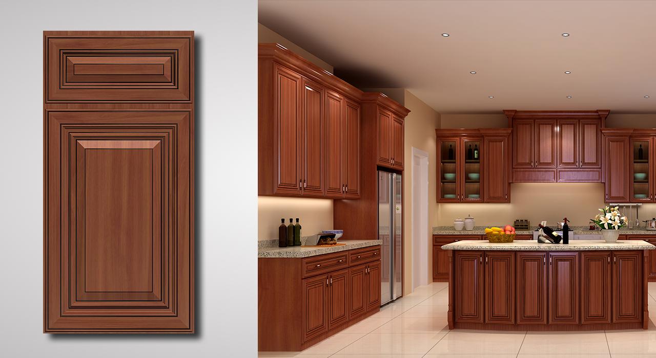 Saratoga Cinnamon Cabinets