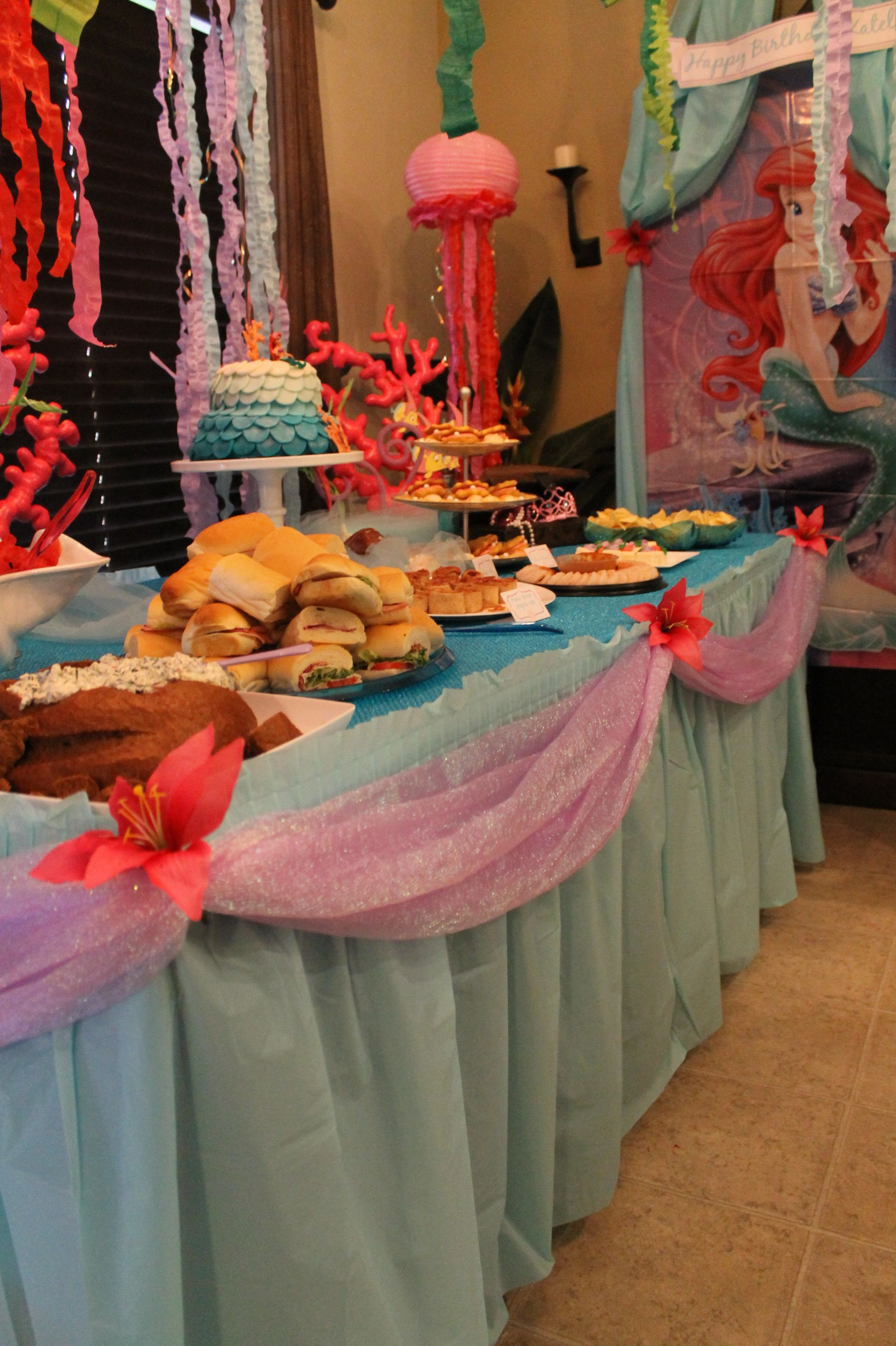 Little Mermaid Table Decor Colbies Party Pinterest Mermaid