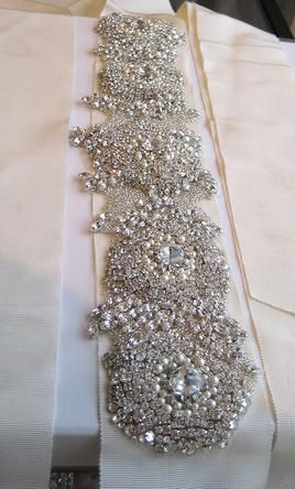 Wedding Dress Accessories Sash Belt Ivory Vera Chelsea 900 Usd Used