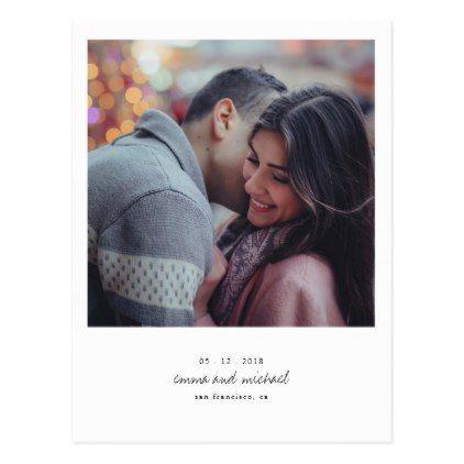 #Minimalist Photo Save the Date Postcard - #savethedate #wedding #love #card #cards #invite #invitation