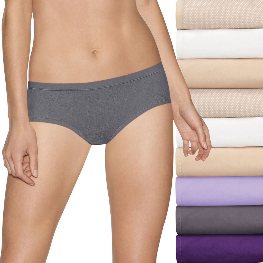 f84a5dc7ea1c Women's Hanes Ultimate Comfort Stretch 9-Pack Hipster Panties 41KSP9, Size:  5, Dark Beige