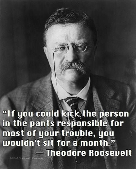 Theodore Roosevelt Quotes Best A Kick In The Pants Via Theodore Roosevelt  Quotable Quotes . Inspiration