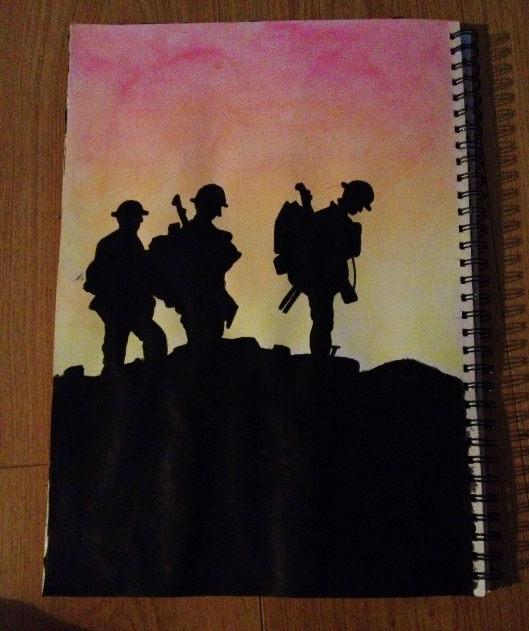 Silhouette Paintings Of People Image Result For Silhouette Of World War 1 Soldiers