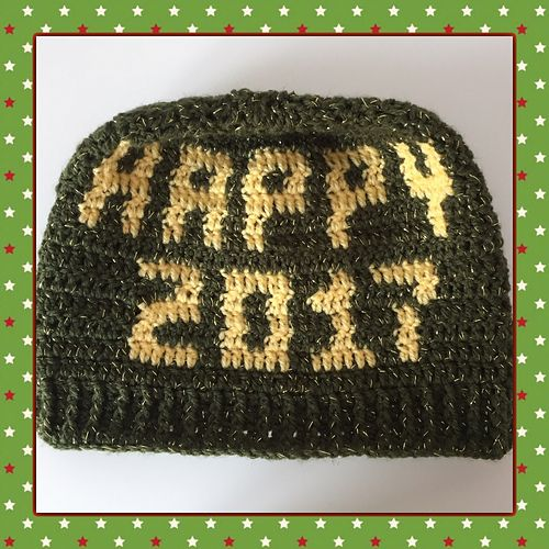 New year is coming! A good reason for a happy new year bun beanie ...