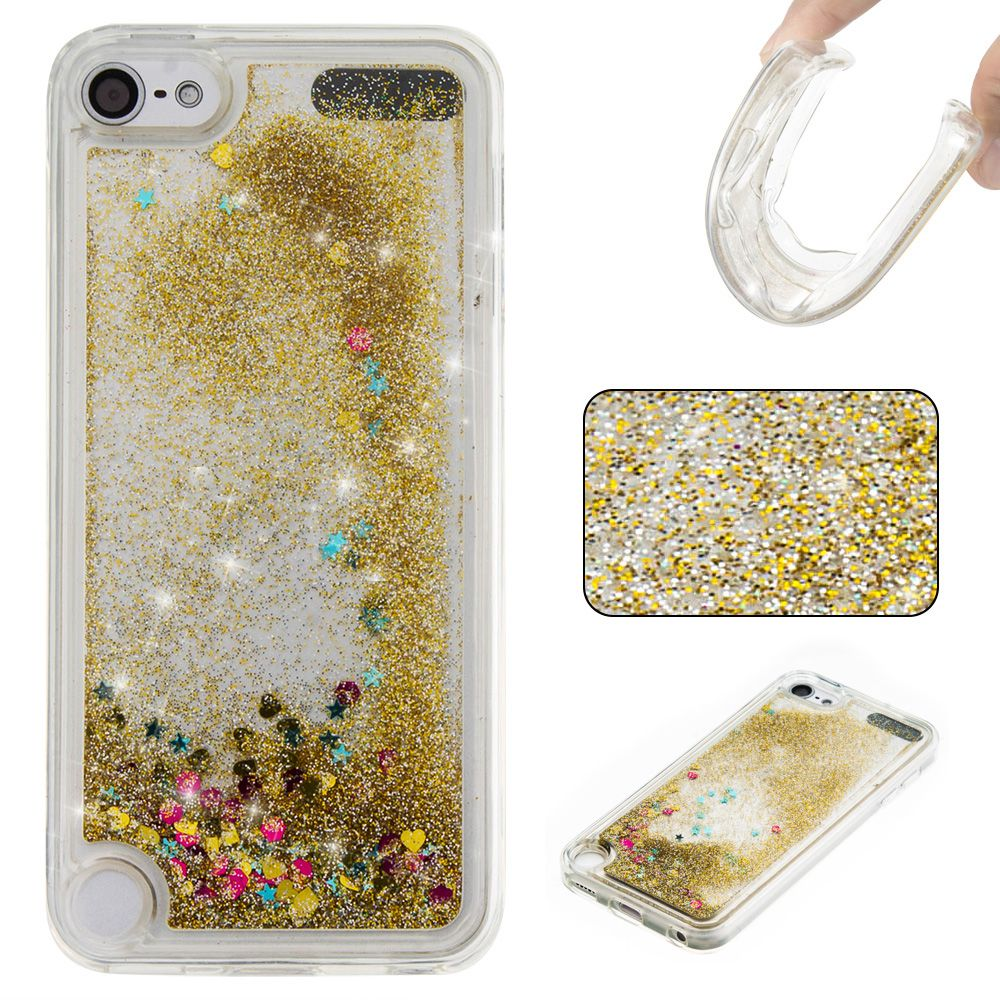For Touch 6 Case Liquid Glitter Meteor Sand Sequins Dynamic Transparent Soft TPU Phone Cases For iPod Touch 6 Cover Coque 2017