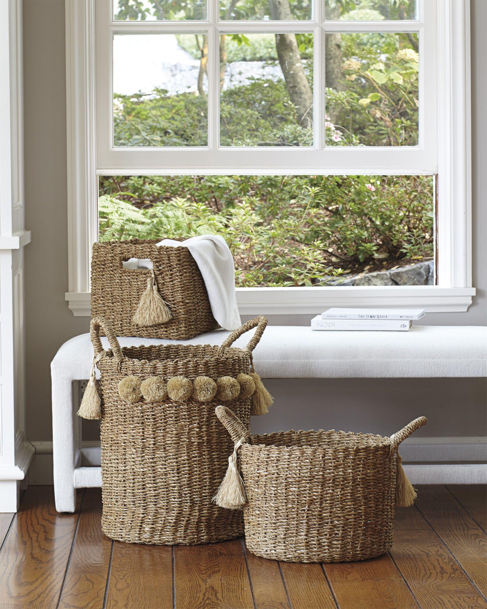 Big Sur Basket Baskets Sereaandlily Baskets Coastal Decorating Living Room Coastal Living Rooms Coastal Bedrooms #storage #bin #for #living #room