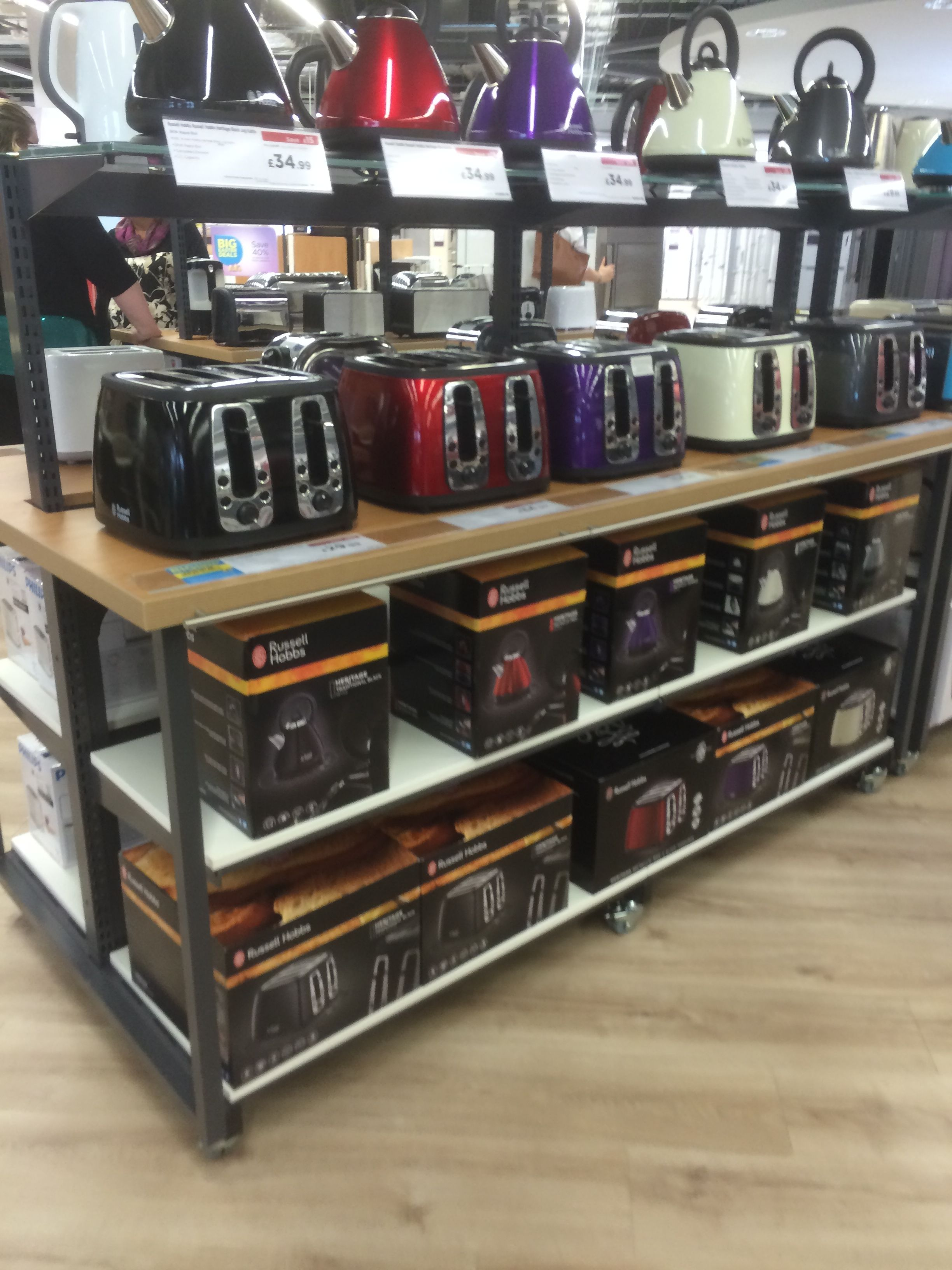 Nice Line Up Of Small Domestic Appliances At Our Future Store