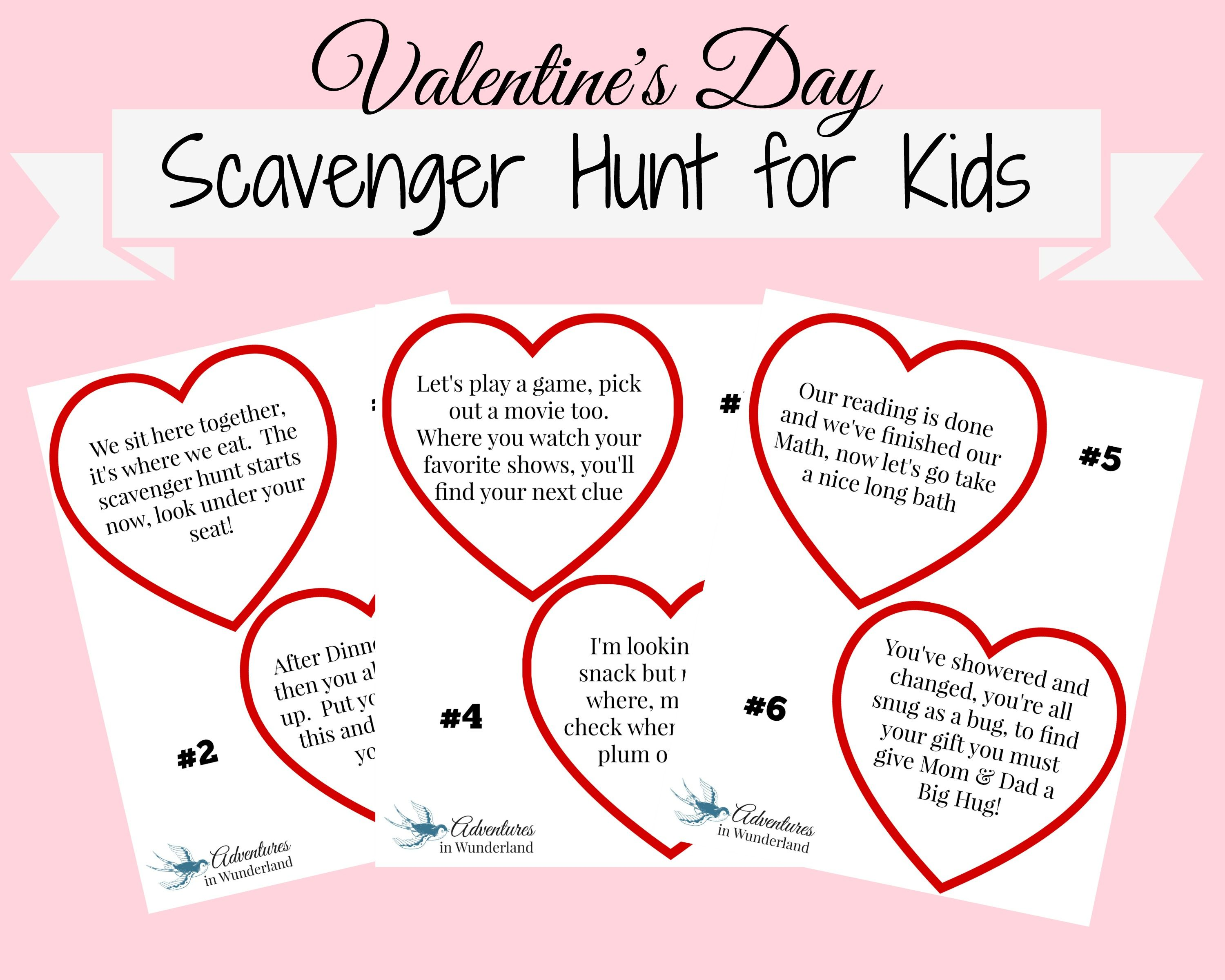 Uncategorized Valentines Day Riddles valentines day scavenger hunt for kids with printable clues clues