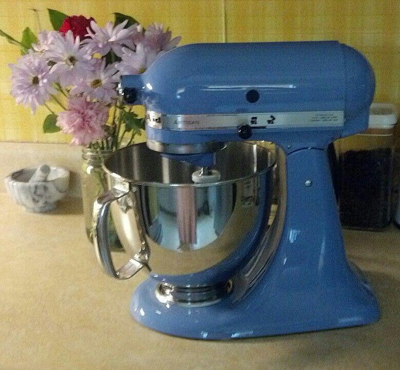 My cornflower blue kitchenaid artisan mixer325 watts