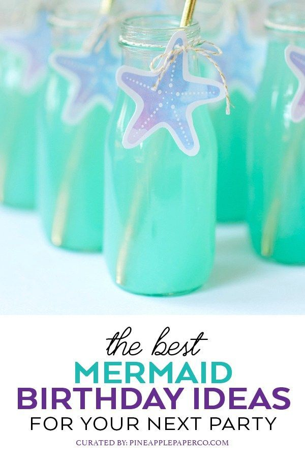 The Best Mermaid Birthday Party Ideas – Pineapple Paper Co.