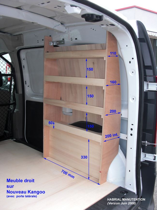kit de rangement pour renault kangoo amenagement de vehicules utilitaires techni contact. Black Bedroom Furniture Sets. Home Design Ideas