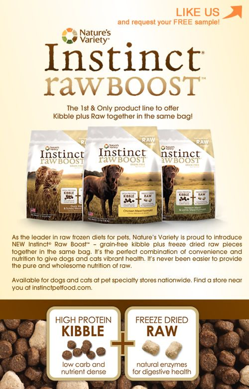 Nature S Variety Instinct Rawboost Dog Food Recipes Food Animal Nutrition