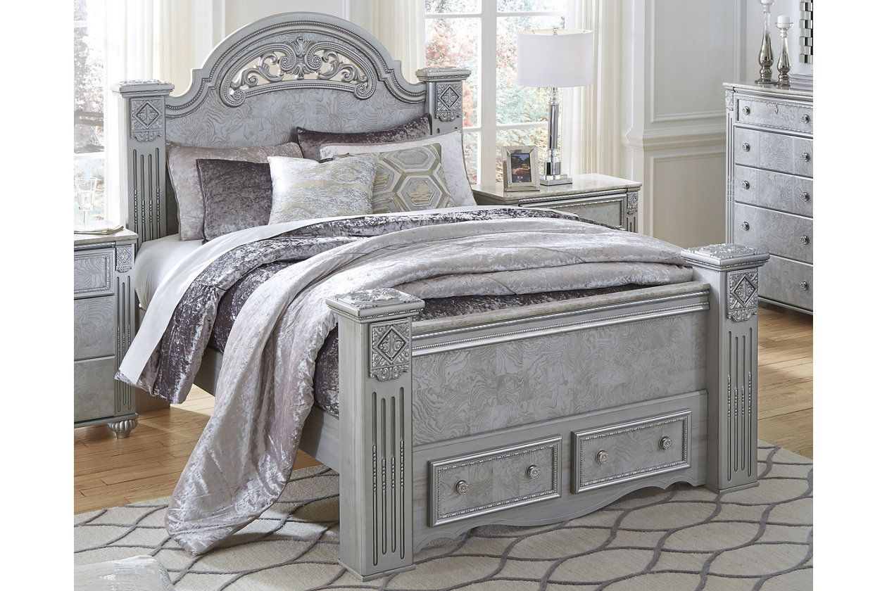 Zolena Queen Poster Bed with Storage Ashley Furniture