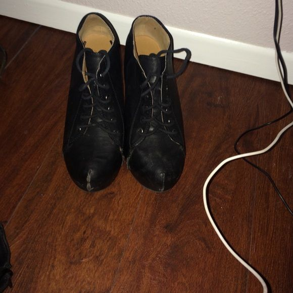 Black lace up boots Black lace up boots Soda Shoes Lace Up Boots