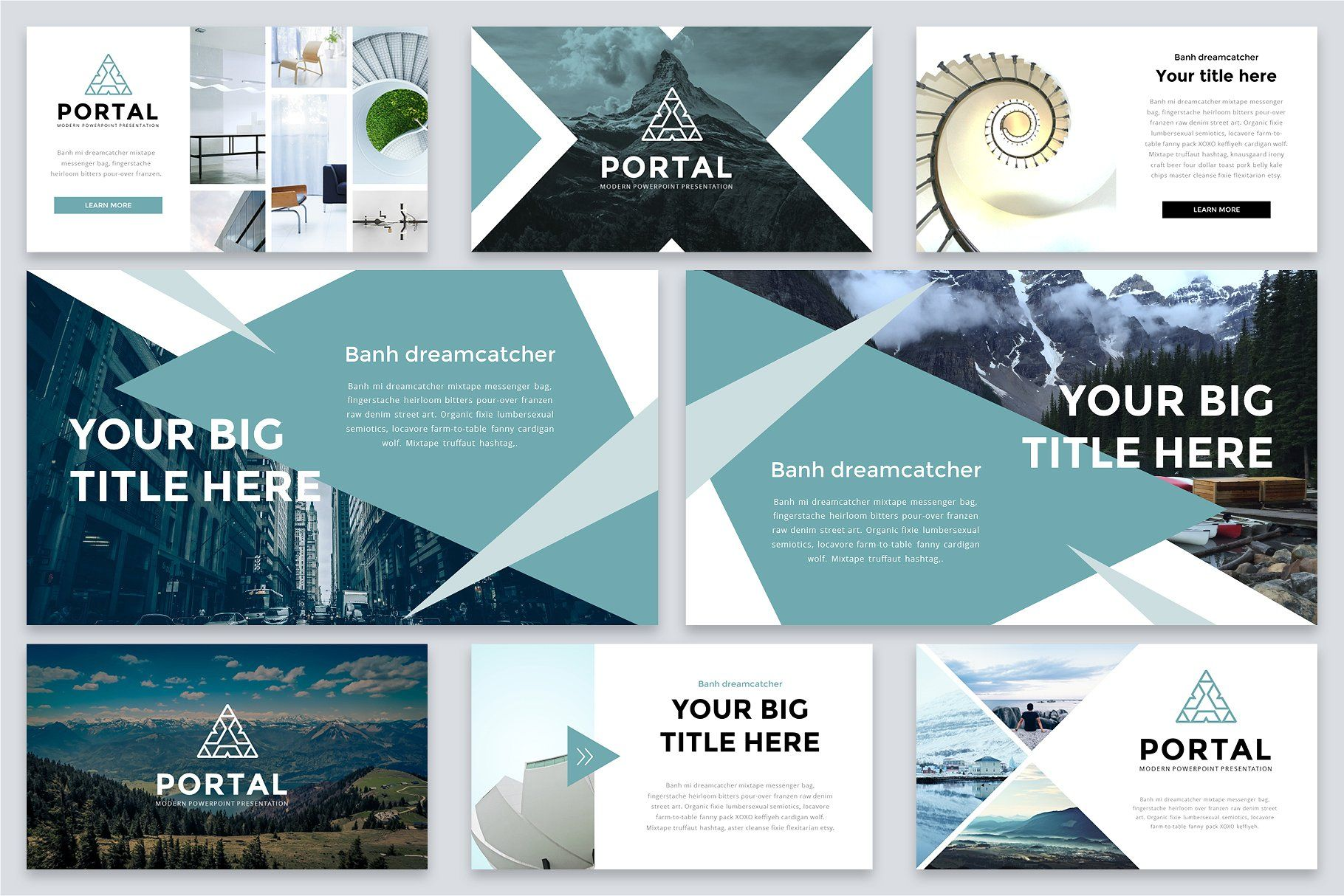 portal modern powerpoint template by reshapely on creativemarket