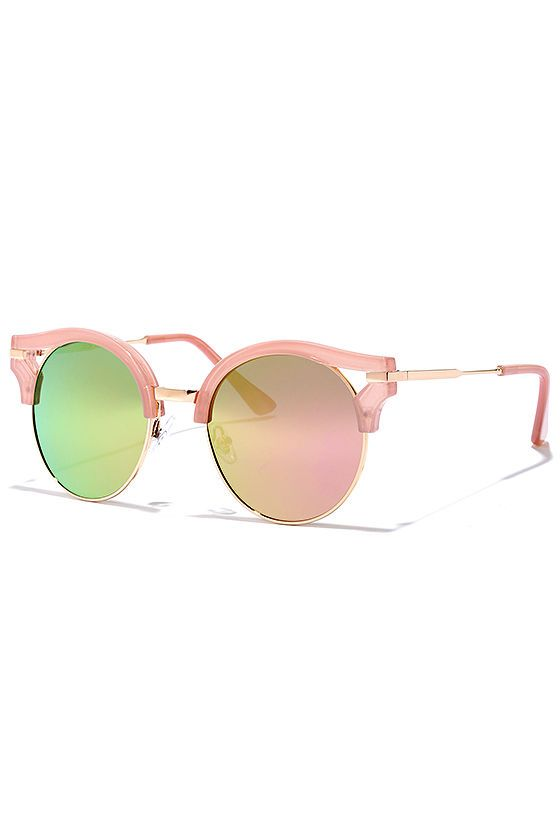 Next Move Pink Mirrored Sunglasses