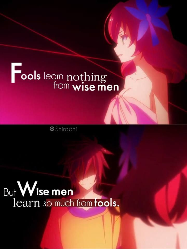 Sauce No Game No Life Anime And Quotes