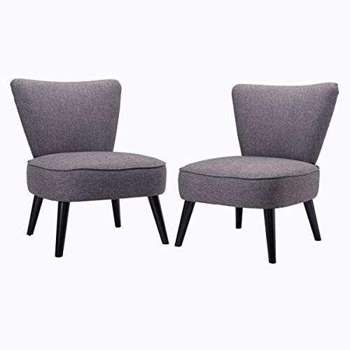 Super Giantex Set Of 2 Armless Accent Dining Chair Modern Livin Gmtry Best Dining Table And Chair Ideas Images Gmtryco