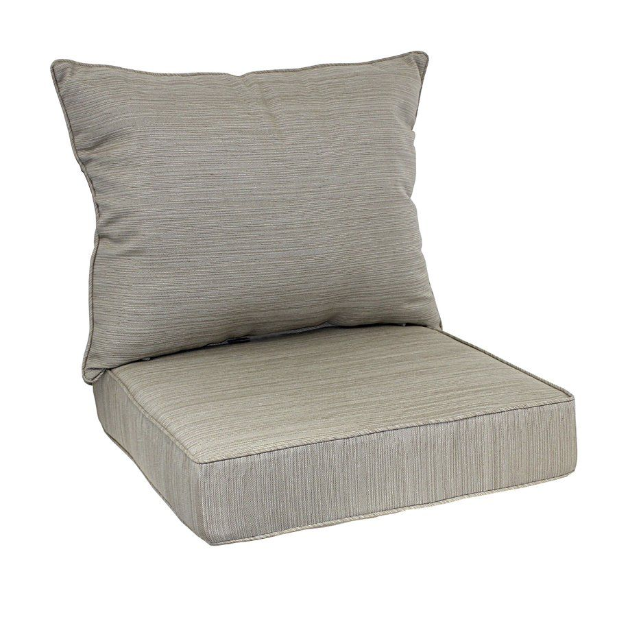Cushions chair pads and more - Allen Roth Natural Deep Seat Patio Chair Cushion Lowe S Canada
