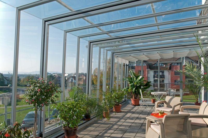 Glasdach für die Terrasse mit modernem Look Wintergarten