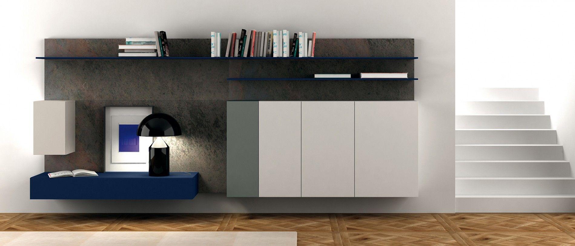 Composizione soggiorno serie spazio m214 di pianca for Arredamento on line