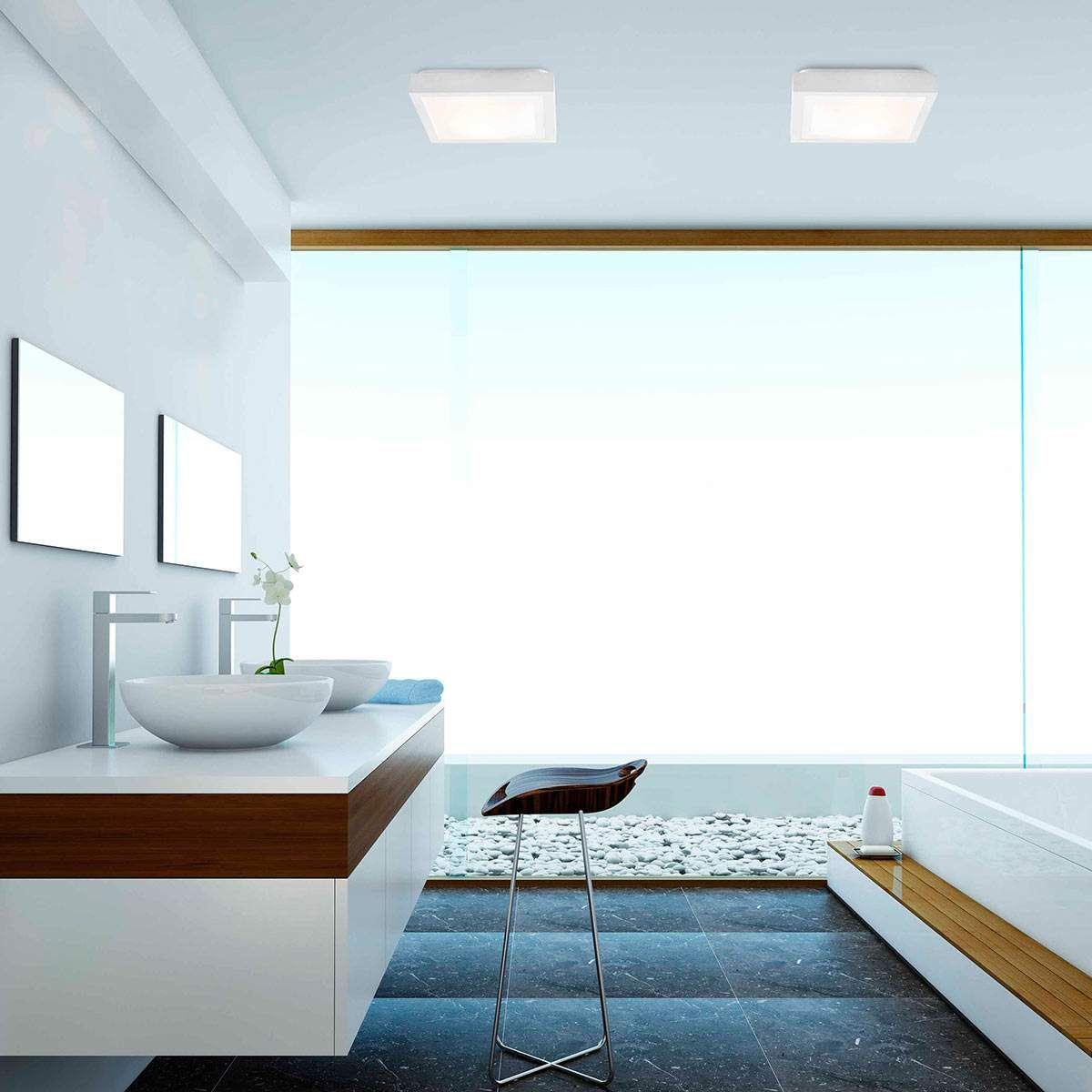 Badezimmer Deckenleuchte Tola In Eckiger Form Badezimmer
