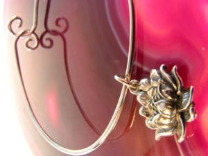 Sterling Silver Bracelet with Lotus Charm