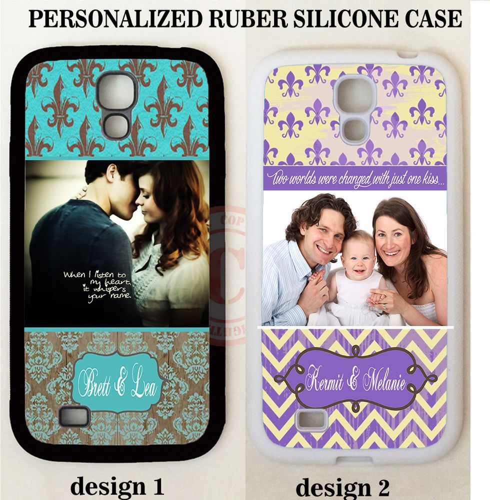FLEUR DE LIS CUSTOM LOVE PHOTO MONOGRAM CASE For Samsung Galaxy S9 S8 S7 NOTE 8 #UnbrandedGeneric