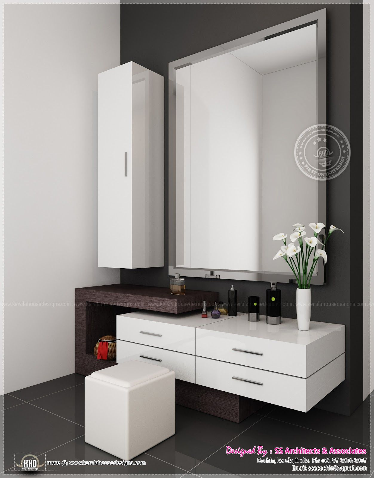 Wall mounted dressing table designs for bedroom - Cool Dressing Table Design Designs Small For Bedroom With Almirah Simple Full Length Mirror In Wood