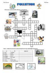 English worksheet: POLLUTION | Anglais | Worksheets ...