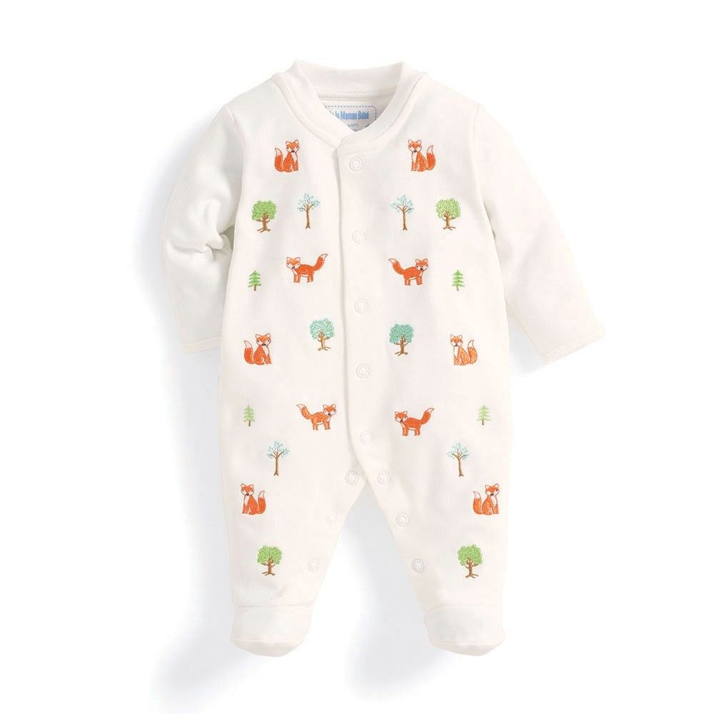 1339803cf Gorgeous gender neutral going home outfit - Fox Embroidered Baby ...
