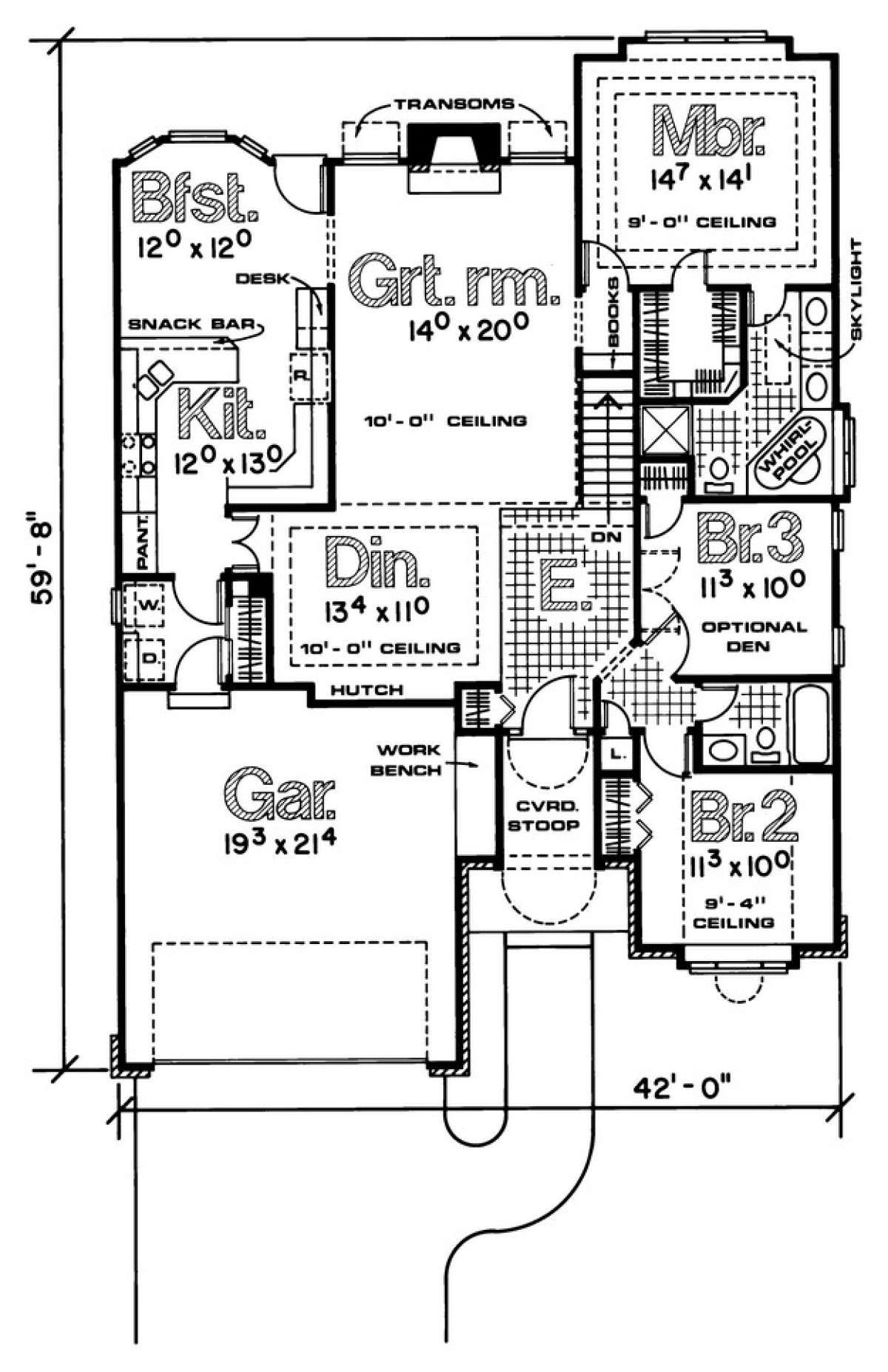 Traditional House Plan 402