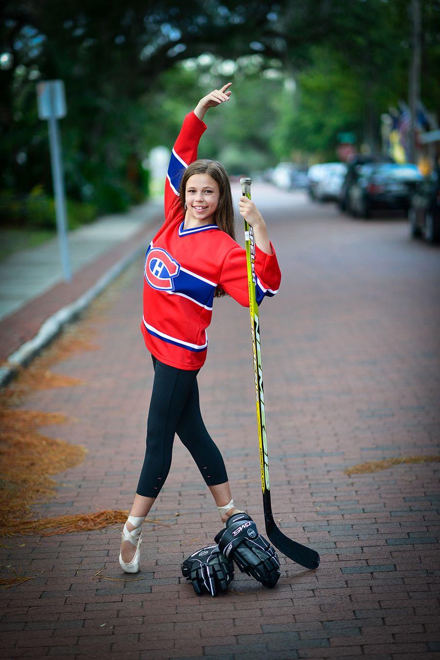 hockey dance girl photo shoot... This is so cute!! I think