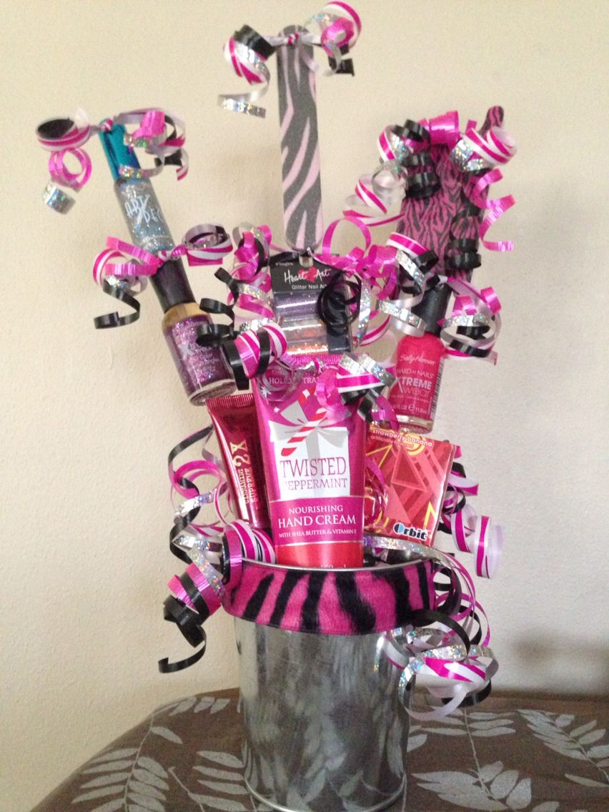 Girl birthday with images girl gift baskets birthday
