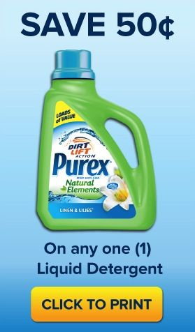 This Coupon Offer Has Ended Coupon Save 0 50 On Purex Laundry
