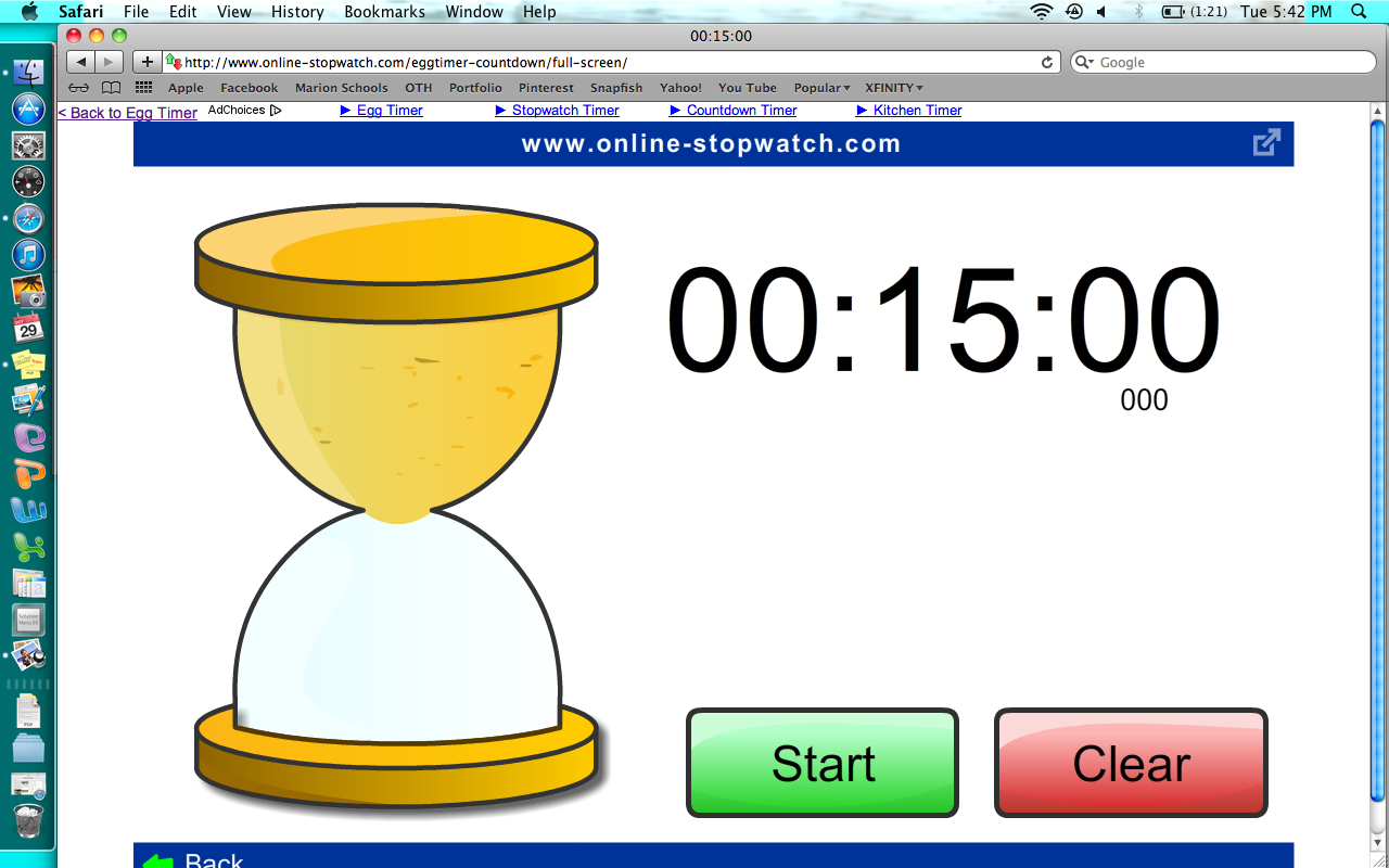 Online Timer To Use In The Clroom