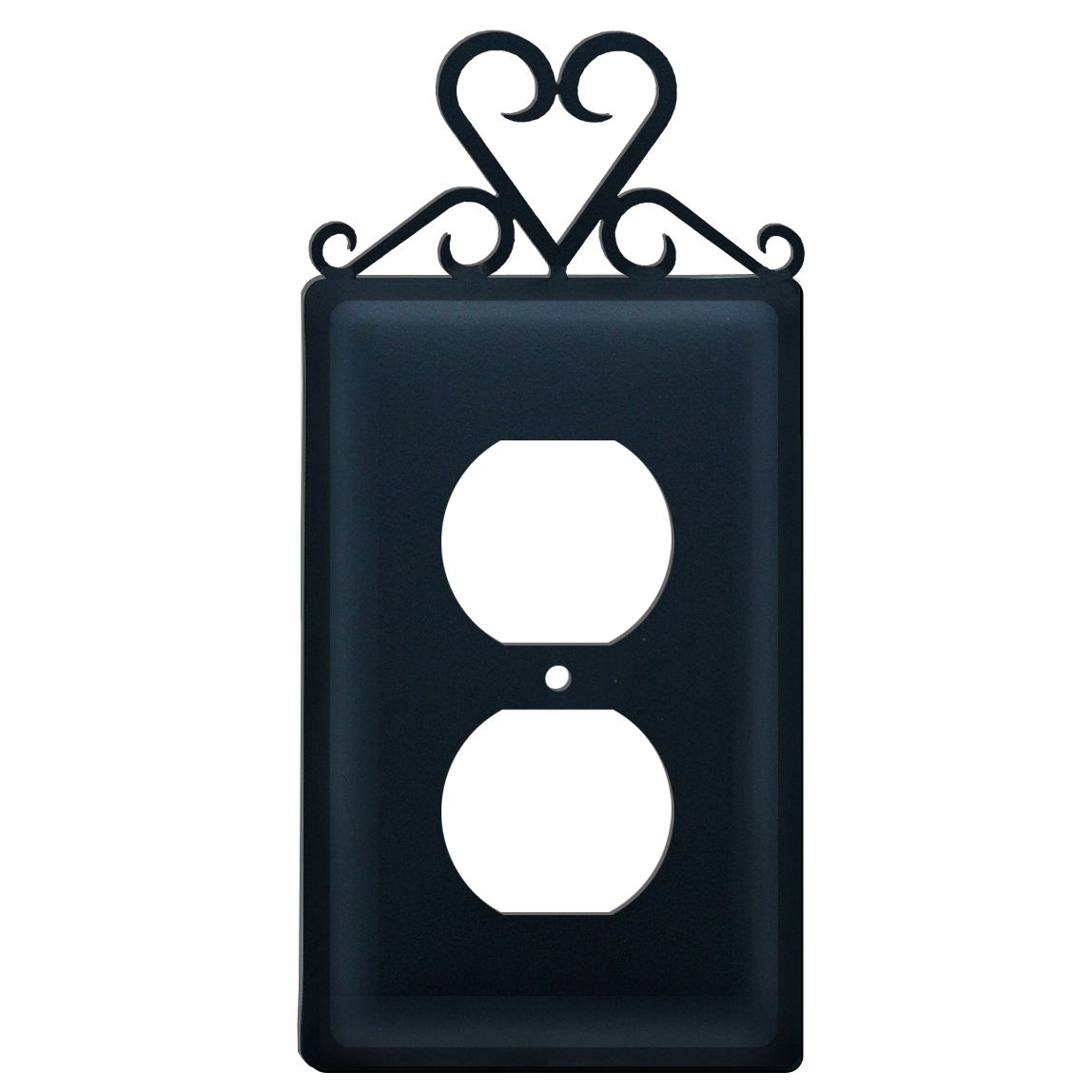 Wrought Iron Single Outlet Wall Plate. This decorative electrical outlet cover plate features a Heart  sc 1 st  Pinterest & Wrought Iron Single Outlet Wall Plate. This decorative electrical ...