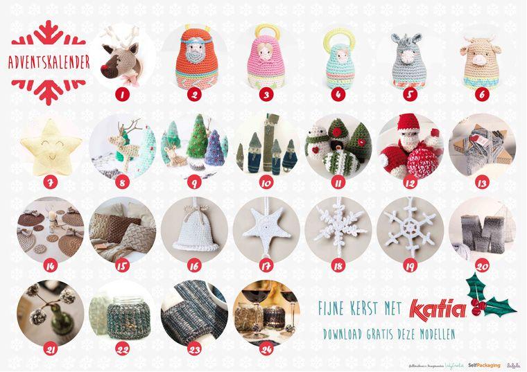 Adventskalender 31 Gratis Kersthaakpatronen Christmas