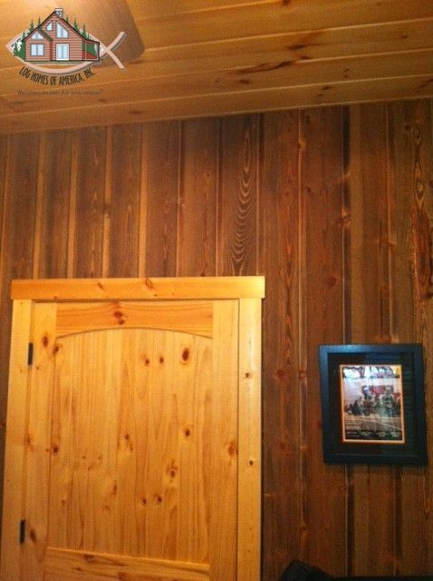 Channel Rustic Ghost Wood In Use On Interior Wall White Pine T G Ceiling