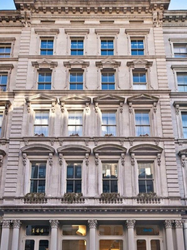 The limestone exterior is of classic New York architecture and