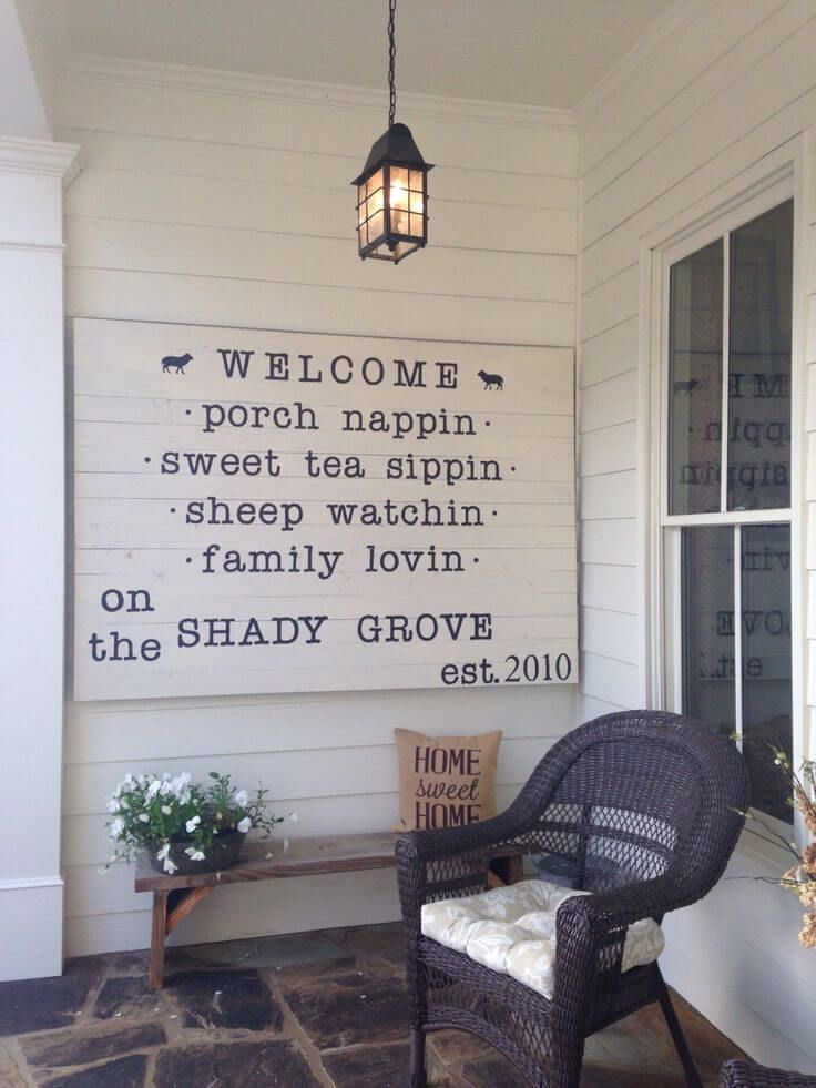 home signs ideas 30 easy diy front porch sign ideas for your home porch front