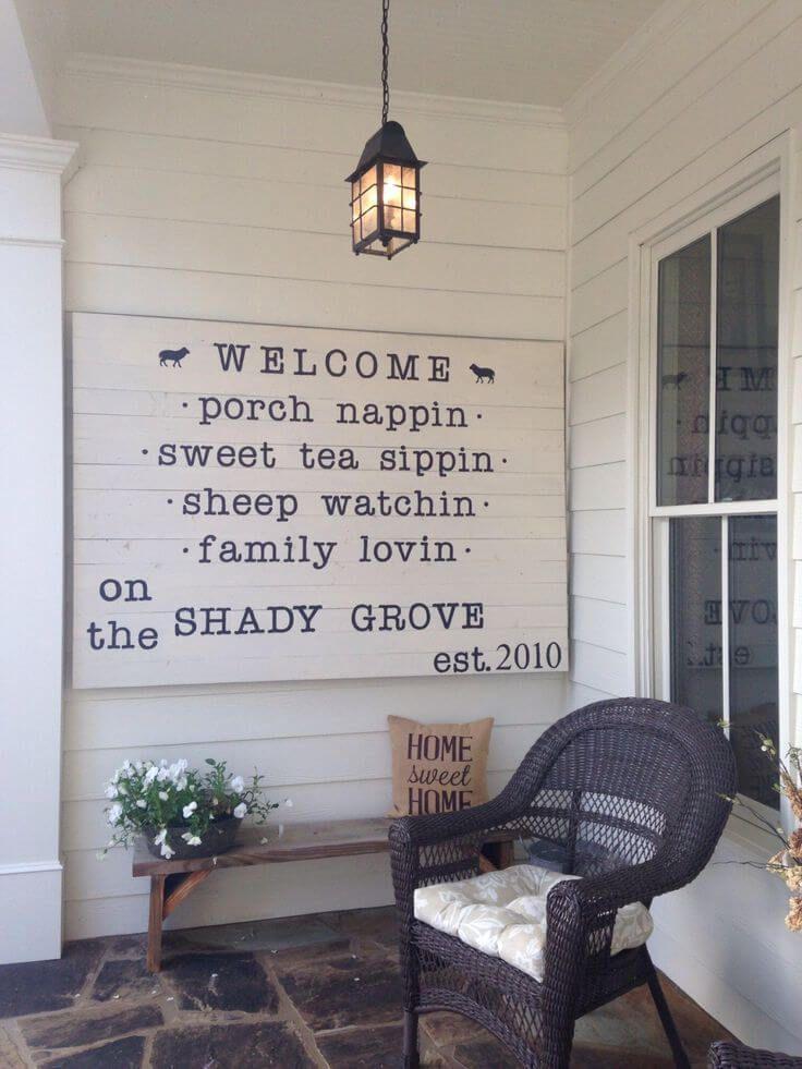 farmhouse welcome sign diy