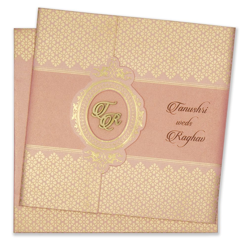 Buy Pink And Rose Gold Colour Wedding Invitations At Hitched